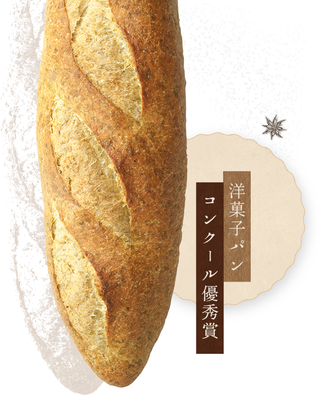 洋菓子パンコンクール優秀賞